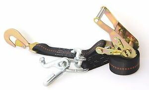 4 Rtj Cluster Hook Ratchet Straps Tie Down Car Trailer Flatbed Tow Truck Strap B