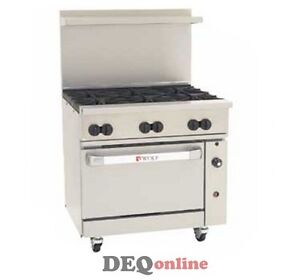 Wolf C36c 6b Challenger Xl Gas Restaurant Range 6 Open Burners 36 Wide Ng Or Lp