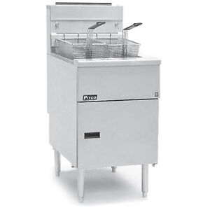 Pitco 65c s Tube Fired Gas Floor Model Fryer 65 80 Lb Capacity
