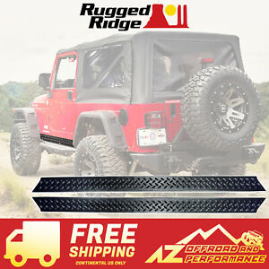 Rugged Ridge Rocker Side Panel Body Armor For 97 06 Jeep Wrangler 11650 05 Black