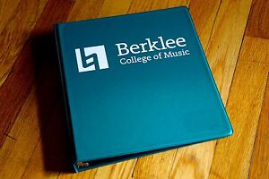 Official berklee College Of Music 3 ring Binder 1 Inch Forest Green 2016