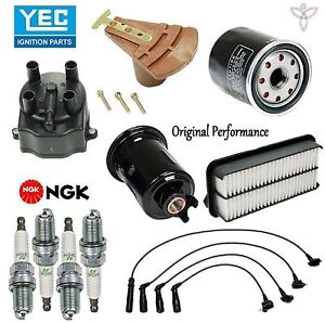 Tune Up Kit With Cap Rotor Spark Plugs Wire Set For Toyota Tercel 1992 1993