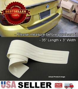 35 X 3 White Rear Bumper Rubber Guard Cover Sill Plate Protector For Bmw Audi