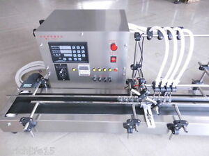 Four Heads Full Automatic Liquid Filling Machine 10 500ml Stainless