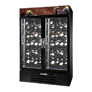 Beverage Air Mmrr49hc 1 ss wine 2 Section Dual Temp Glass Door Refrigerator