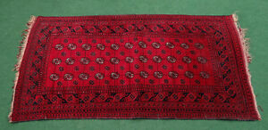 1800 Antique Bukhara Persian Afghan Knitted Hand Woven Rug Runner Kilim Tapestry