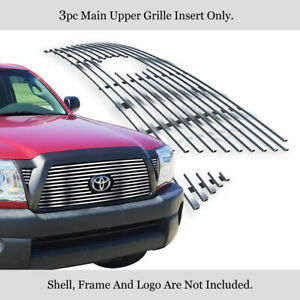 Fits 2005 2010 Toyota Tacoma Stainless Steel Billet Grille Insert