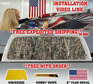 Camo Camouflage Pickup Truck Back Window Graphic Decal Tint Hunter Oak Perf