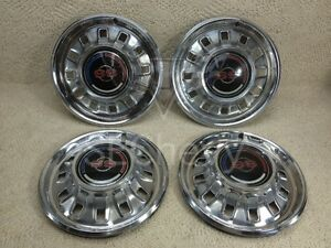 1967 67 Chevy Chevrolet Impala Super Sport Hubcaps Set Of 4 Nice
