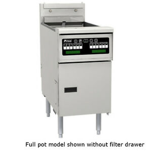 Pitco Selv14t c fd Reduced Oil Volume Electric Split Pot Fryer W Filter Drawer