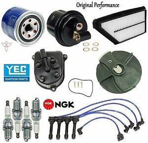Tune Up Kit Filters Cap Rotor Spark Plugs Wire For Honda Prelude Si 2 3l 92 96