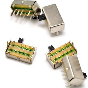 50pcs New 2 Pole 8 Pin 3 Position Sk23d07vg3 Pcb Mini Slide Switch