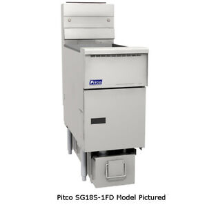 Pitco Sg18s 1fd Solstice Gas Fryer With Filter One 70 90 Lb Capacity Tank