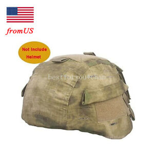 Tactical Airsoft Military MICH 2000 Ver2 Helmet Cover with Back Pouch AT-FG