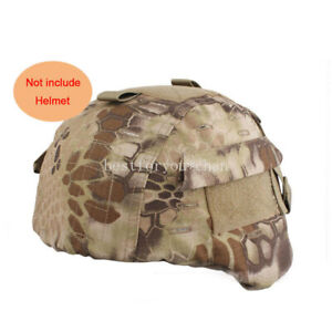 Tactical Airsoft Military MICH 2000 Ver2 Helmet Cover W Back Pouch Highlander