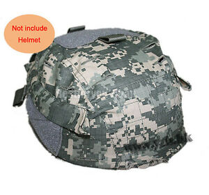 Airsoft Tactical Paintball Helmet Cover w Back Pouch for MICH 2002 Ver2 ACU