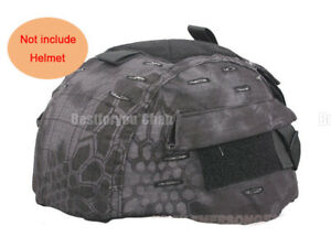 Airsoft Tactical Paintball Helmet Cover W Back Pouch for MICH 2002 Ver2 Typhon