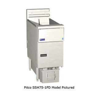 Pitco Ssh75 2fd High Efficiency Multi battery Gas Fryer Filter System
