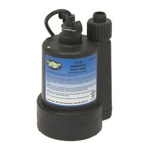 Superior Submersible Water Pump Small Utility Sub Durable Sump 1 4 Hp 30g Per 1m