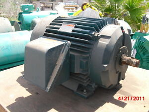 60 Hp Reliance Electric Motor 1800 Rpm 364tsz 365tsz Fr 230 460 V 2 Shafts