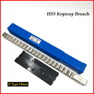E Push Type Keyway Broach 18mm Metric Size Cnc Metalworking Machine Tool