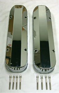 Pontiac Fabricated Chrome Aluminum Tall Valve Covers 1 4 Rail 389 350 400 455