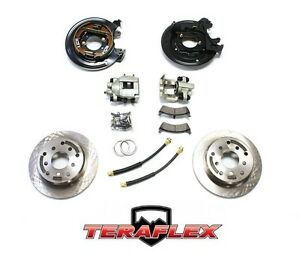 Teraflex Rear Disc Brake Conversion Kit W Rotors For 91 06 Jeep Tj Lj Yj Xj
