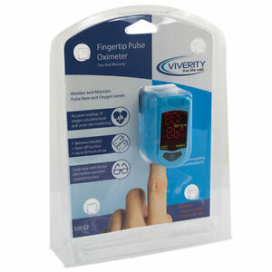 Viverty Fingertip Pulse Oximeter Otc Rate O2 Levels Saturation Sports Activity