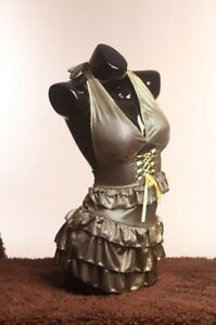 Female Display Black Glossy Mannequin Torso dress Form Life Size Bs 11h