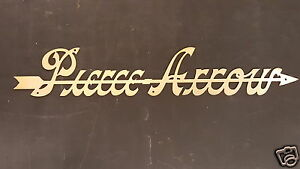 Pierce Arrow Radiator Script Brass 1907 1918 Emblem Medalion