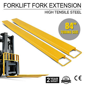 84 Forklift Pallet Fork Extensions Set Heavy Duty Steel Construction Lifting