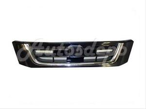 For 1997 2001 Honda Cr V Crv Grille Black W Chrome Molding Trim