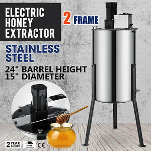 2 Frame Electric Honey Extractor 2 Outlet Beekeeping Stainless Steel Excellent