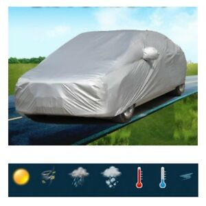 M L Xl Xxl Universal Uv Waterproof Outdoor Full Car Auto Cover Silver