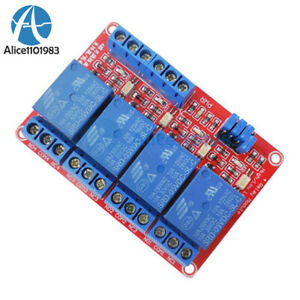 5v 4 channel Relay Module With Optocoupler High Low Level Trigger For Arduino
