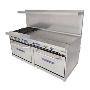 Bakers Pride 72 bp 4b g48 s30 72 Restaurant Series Gas Range W 48 Griddle