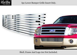 Fits 2007 2014 Ford Expedition Bumper Stainless Steel Billet Grille Insert
