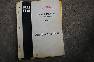 Hyster Winch W5a Parts Manual Book Spare Catalog Crawler Tractor 1980 Dozer List