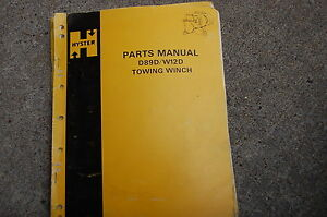 Hyster Towing Winch D89d W12d Parts Manual Book Catalog Crawler Tractor Dozer