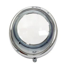 Air cooled Vw Bug bus 1945 1966 Headlight Assembly Smooth Lense