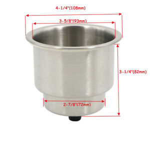 10 Pcs Stainless Steel Cup Drink Holder Marine Boat Rv Camper