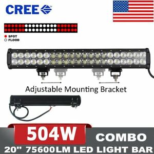 Us Cree 24inch 200w Curved Led Work Light Bar Spot Flood Combo 4wd Boat Offroad