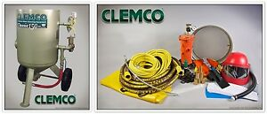 00916 Clemco Portable Blast Machine Classic Style 6 Cu ft Pkg Free Shipping