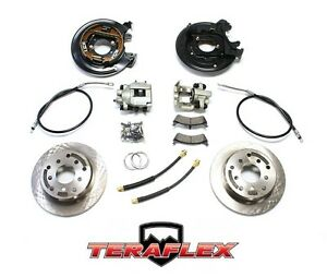 Teraflex Rear Disc Brake Conversion Kit W E brake Cables 97 06 Jeep Wrangler Tj
