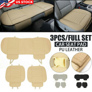 Breathable Pu Leather Bamboo Car Seat Cover Pad Mat For Auto Chair Cushion