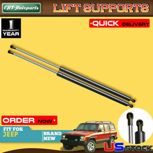 Set Of 2 Tailgate Hatch Lift Supports Shock Struts For Jeep Cherokee 1984 1994