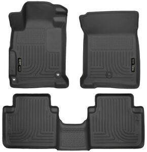 Husky Weatherbeater Front Rear Black Floor Mats Fits 2013 2017 Honda Accord