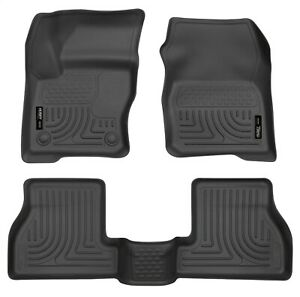 Husky Weatherbeater Front Rear Black Floor Mats Fits 2012 2015 Ford Focus