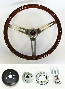 67 68 Grand Prix Gto Firebird Le Mans Wood Steering Wheel Rivets High Gloss 15