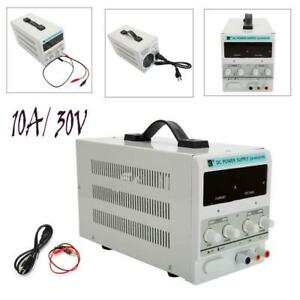 30v 10a 110v Dc Power Supply Precision Variable Digital Adjustable Clip Cable Us